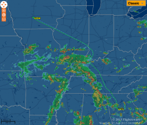My ATL-DSM flight on Monday