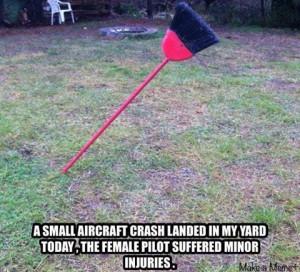 crashed landed