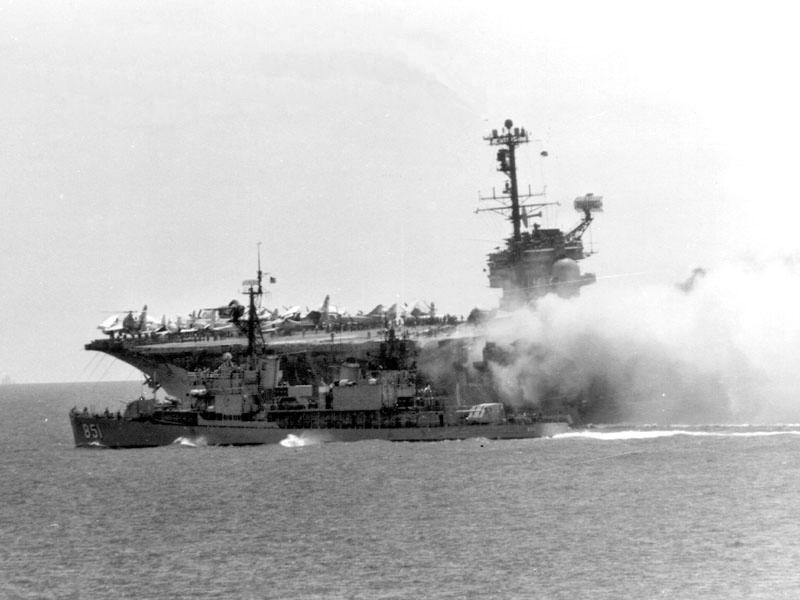 Burning the Forrestal