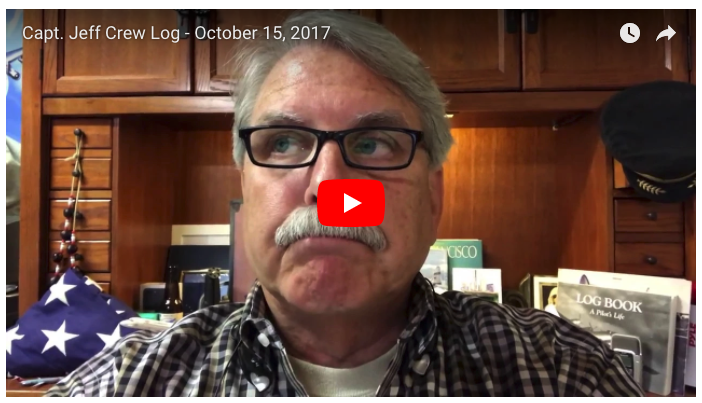 Capt. Jeff Crew Log – October 15, 2017